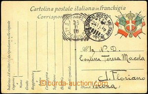 41181 - 1916 ITALY FP card Italian army to Verona, CDS Officio Posta
