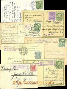 41204 - 1903-17 comp. 7 pcs of entires with postal agency pmk POČEN