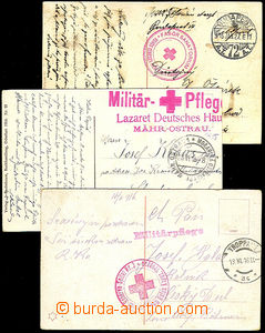 41238 - 1915-16 3 pcs of Ppc sent by FP with postmarks of Red Cross