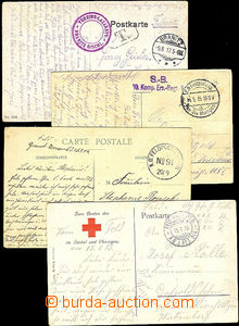 41239 - 1914-17 6 pcs of entires with postmarks FP German army, vari