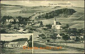 41256 - 1938 Dětřichov - Dittersdorf, 2-views, general view and re