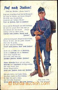41260 - 1915 color postcard Auf nach Italien!, jednoroční voluntee