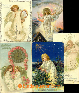 41261 - 1900-10 comp. 5 pcs of color Ppc with motive of angel, from