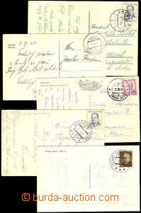41266 - 1945-55 comp. 7 pcs of Ppc with railway pmk,  č.154a (broke