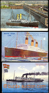 41268 - 1914 3 color postcard with ships (Majestic, Prinz Hohenlohe