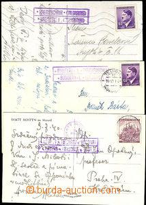 41269 - 1940-44 comp. 3 pcs of Ppc Us postal-agencies KŘEMEŠNÍK (