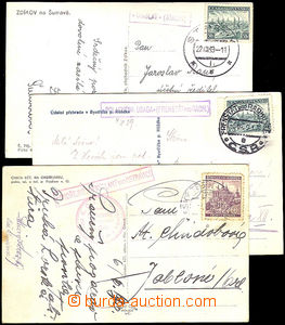 41270 - 1939-40 comp. 3 pcs of Ppc Us postal-agencies,  as forerunne