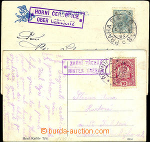 41279 - 1903-18 2 pcs of Ppc with postal agency pmk,  HORNÍ ČERNO�
