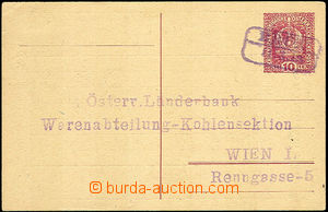 41294 - 1919 CPŘ1, on reverse additional printing Nort Bohemian coa