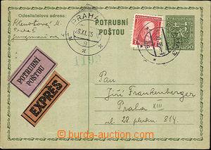 41317 - 1935 CPO2 dopisnice pro potrubní poštu dofr. známkou 1Kč