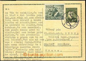 41323 - 1942 CDV8 s dofr. zn. Alb.59 (přefrankované) s razítkem V