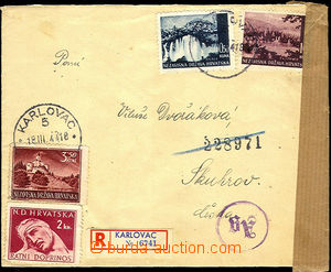 41332 - 1944 Reg letter to Bohemia-Moravia with Mi.48, 60, 98, CDS K