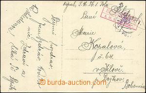41339 - 1915? S.M.S. ALPHA / Briefzensur, frame red cancel., CDS Fie