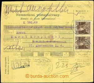 41342 - 1918 větší díl (2/3) mezinárodní peněžní poukázky
