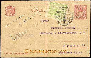 41354 - 1919 CPŘ33 dofr. zn. 5h Hradčany, DR Pöstyén 8.Okt.19, ve 3