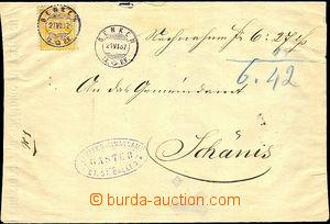 41367 - 1887 envelope zhotovená from poster, with Mi.49, CDS Benken