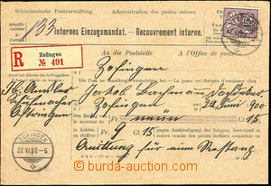 41368 - 1900 post. blank form - envelope Internes Einzugsmandat, sen