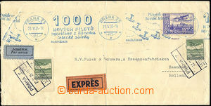41450 - 1935 issue III special delivery and airmail letter to Nether