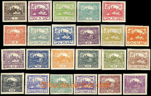 41499 -  Pof.1-26, basic line 23 pcs of, all mint never hinged, only