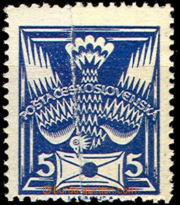 41515 - 1920 Pof.143A Pigeon-issue, joined paper, rest of hinge, exp
