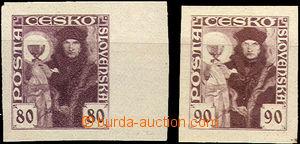 41561 - 1920 Pof.162ZT-163ZT, zkoušky tisku na bílém papíru, če