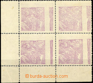 41568 - 1920 Pof.165A, corner blk-of-4 with margin and sheet offset,