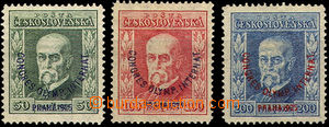 41579 - 1925 Pof.180-2 T. G. Masaryk Congress, P6, P7, P5, by/on/at