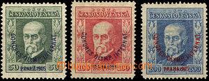 41579 - 1925 Pof.180-2 TGM Kongres, P6, P7, P5, u č.180 stopa tém�