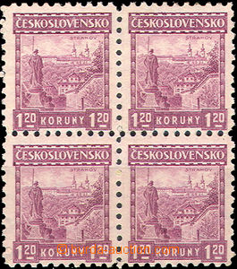 41593 - 1926 Pof.213 Small Landscapes, block of four with P6, 1x lig