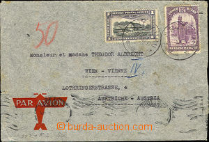 41617 - 1937 airmail letter to Austria with Mi.43, 143, CDS Rutshuru