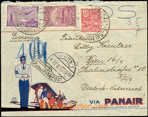 41620 - 1933 BRASIL airmail letter to Austria franked by airmail sta