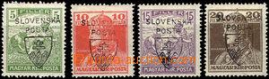 41621 - 1918 Pof.RV163-6 Jehlicskův přetisk, řada 4ks, vše čern
