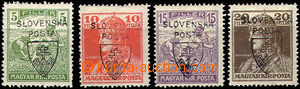 41621 - 1918 Pof.RV163-6 Jehlicskův overprint, line 4 pcs of, all b