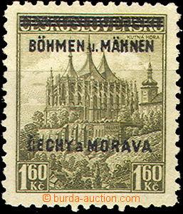 41625 - 1939 Pof.13 Kutná Hora s DV na ZP 26 v přetisku MÄHNEN na