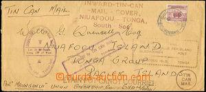 41633 - 1939 PLECHOVKOVÁ POŠTA  dopis přepravený plechovkovou po