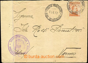41634 - 1917 ITALY letter with Mi.129, CDS Posta Militare/ 46. divis