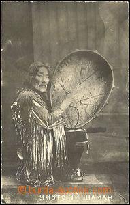 41639 - 1919 Jakutský šaman, čb pohlednice vydaná v Rusku, vzadu