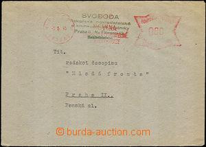 41675 - 1945 dopis s protektorátním OVS NOVINA Praha 7/ 5.5.1945 z