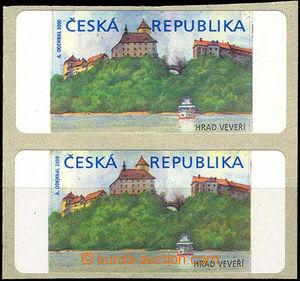 41680 - 2000 Pof.AT1 Veveří (castle), pair, variant I., both stamp