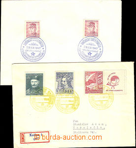 41715 - 1947-48 ESPERANTO  1x envelope and 1x Reg letter with specia