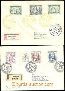 41716 - 1949 ESPERANTO  2x R dopis s PR : 3x Bratislava 2/ III. celo