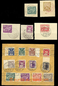41748 - 1920 comp. 6 pcs of cut-squares and 2 entires with special p