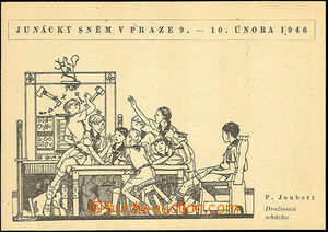 41800 - 1946 SCOUTING    B/W drawn postcard (P.Joubert) issued to Sc