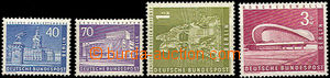 41845 - 1956 Mi.149, 152, 153, 154, Postage, incomplete set, mint ne