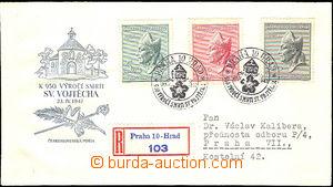 41872 - 1947 ministerial FDC St. Vojtěch, with stamp. Pof.450-52,za
