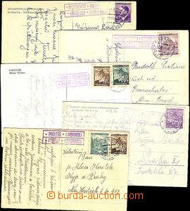 41887 - 1940-44 comp. 5 pcs of Ppc with postal agency pmk,  PODLESÍ