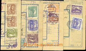 41889 - 1919 sestava 4ks ústřižků pošt. průvodek vyfr. Hradča