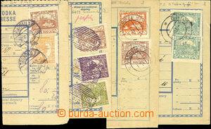 41890 - 1919-20 sestava 4ks ústřižků pošt. průvodek vyfr. Hrad