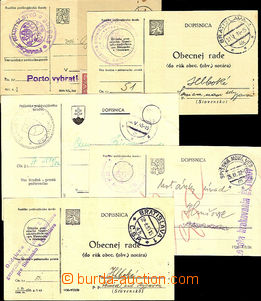 41897 - 1929-51 comp. 11 pcs of PC liberated from postage from Slova