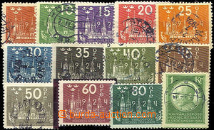41911 - 1924 Mi.144-56 Congress UPU, incomplete set, value 60ö with